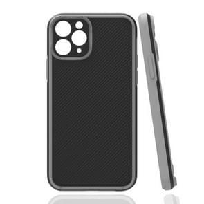 Vierhoekige Twill Schokbestendige drop-bestendige beschermhoes voor iPhone 11 Pro(Grijs)