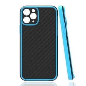 Vierhoekige Twill Schokbestendige drop-bestendige beschermhoes voor iPhone 11 Pro(Blauw)