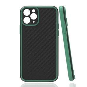 Vierhoekige Twill Schokbestendige drop-bestendige beschermhoes voor iPhone 11 Pro(Groen)