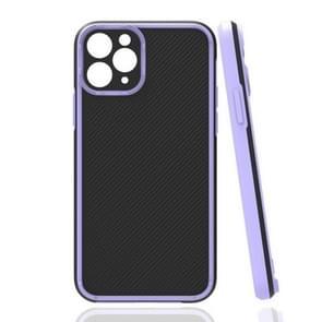 Vierhoekige Twill Schokbestendige drop-bestendige beschermhoes voor iPhone 11 Pro(Paars)
