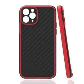 Vierhoekige Twill Schokbestendige drop-bestendige beschermhoes voor iPhone 12 Pro Max(Rood)