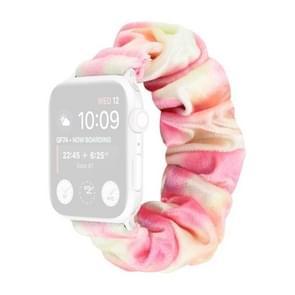 Flanel Hair Ring Vervangende Band Watchband Voor Apple Watch Series 6 & SE & 5 & 4 44mm / 3 & 2 & 1 42mm(1)