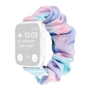 Flanel Hair Ring Vervangende Band Watchband Voor Apple Watch Series 6 & SE & 5 & 4 44mm / 3 & 2 & 1 42mm(5)