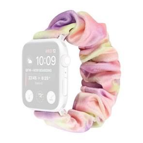Flanel Hair Ring Vervangende Band Watchband Voor Apple Watch Series 6 & SE & 5 & 4 40mm / 3 & 2 & 1 38mm(2)
