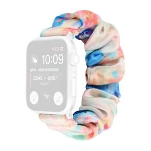 Flanel Hair Ring Vervangende Band Watchband Voor Apple Watch Series 6 & SE & 5 & 4 40mm / 3 & 2 & 1 38mm(3)