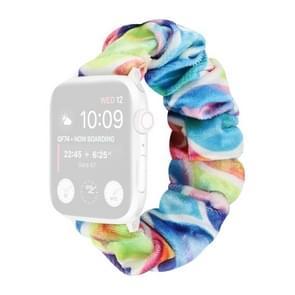 Flanel Hair Ring Vervangende Band Watchband Voor Apple Watch Series 6 & SE & 5 & 4 40mm / 3 & 2 & 1 38mm(4)