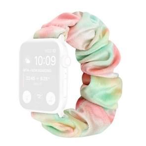 Flanel Hair Ring Vervangende Band Watchband Voor Apple Watch Series 6 & SE & 5 & 4 40mm / 3 & 2 & 1 38mm(13)