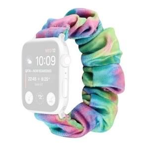 Flanel Hair Ring Vervangende Band Watchband Voor Apple Watch Series 6 & SE & 5 & 4 40mm / 3 & 2 & 1 38mm(21)