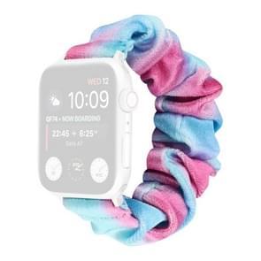 Flanel Hair Ring Vervangende Band Watchband Voor Apple Watch Series 6 & SE & 5 & 4 40mm / 3 & 2 & 1 38mm(23)