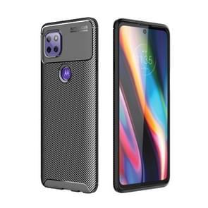 Voor Motorola Moto G 5G Carbon Fiber Textuur Schokbestendige TPU Case (Zwart)