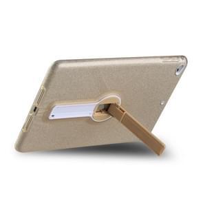Schokbestendige Glitter PC + TPU Beschermhoes met houder voor iPad mini 2019 & 4 & 3 & 2 & mini(Goud)