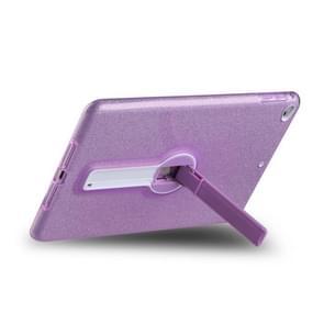 Schokbestendige Glitter PC + TPU Beschermhoes met houder voor iPad mini 2019 & 4 & 3 & mini(Paars)