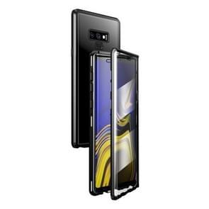 Voor Samsung Galaxy Note9 Magnetic Metal Frame Dubbelzijdige Tempered Glass Case (Zwart)
