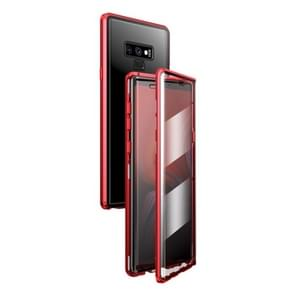Voor Samsung Galaxy Note9 Magnetic Metal Frame Dubbelzijdige Tempered Glass Case (Rood)