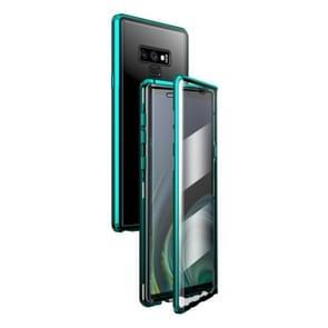 Voor Samsung Galaxy Note9 magnetisch metalen frame dubbelzijdige geharde glazen behuizing (groen)
