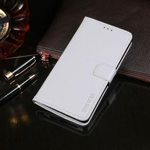 Voor Lenovo K12 idewei Crazy Horse Texture horizontale flip lederen case met houder & kaart slots & portemonnee (wit)
