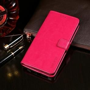 Voor Lenovo K12 Pro idewei Crazy Horse Texture Horizontale Flip Lederen Case met Houder & Card Slots > Portemonnee (Rose Red)