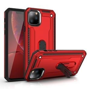 Voor iPhone 11 Pro schokbestendige PC + TPU beschermhoes met 360 graden roterende houder (rood)