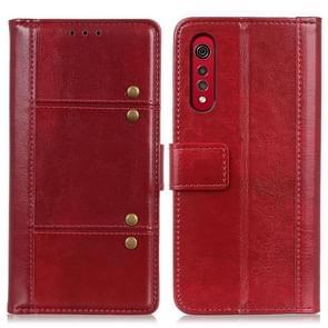 Voor LG Velvet 2 Pro Peas Crazy Horse Texture horizontale flip lederen geval met houder en kaart slots &portemonnee (rood)