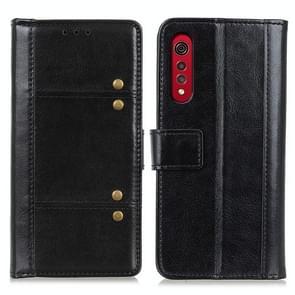 Voor LG Velvet 2 Pro Peas Crazy Horse Texture horizontale flip lederen geval met houder & kaart slots &portemonnee (zwart)