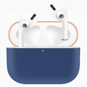 Voor Apple AirPods Pro twee-kleuren draadloze oortelefoon beschermhoes (blauw oranje)