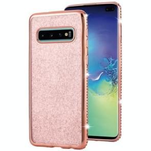 Voor Galaxy S10 Diamond Incrusted Flash poeder TPU case (Rose goud)