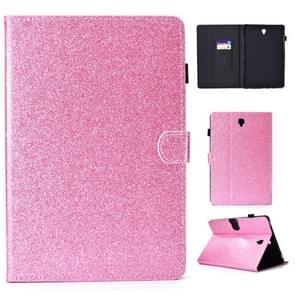Voor Galaxy Tab S4 10.5 T830 Varnish Glitter Poeder Horizontal Flip Leather Case met Holder & Card Slot(Roze)