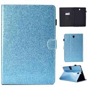 Voor Galaxy Tab S4 10.5 T830 Varnish Glitter Poeder Horizontal Flip Leather Case met Holder & Card Slot(Blauw)