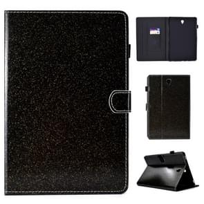 Voor Galaxy Tab S4 10.5 T830 Varnish Glitter Powder Horizontal Flip Leather Case met Holder & Card Slot(Zwart)