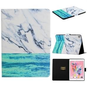 Voor iPad 10 2/10 5 TPU horizontale Flip lederen draagtas met houder & kaartsleuf & slaap/Wake-up functie (Oceaan)