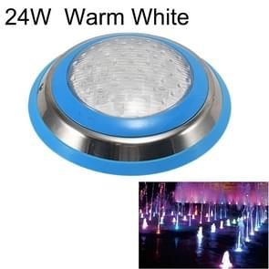 24W LED Stainless Steel Wall-mounted Pool Light Landscape Underwater Light (Warm White Light)