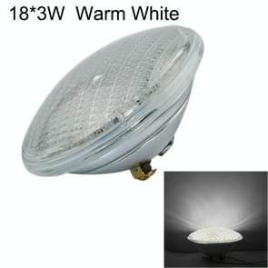 18x3W LED Verzonken zwembad licht onderwater lichtbron (warm wit licht)