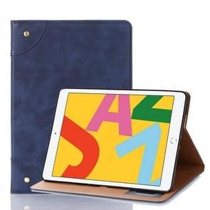Voor iPad 10.2 / 10.5 Retro Book Style Horizontal Flip Leather Case met Holder & Card Slots & Wallet(Donkerblauw)