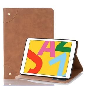 Voor iPad 10.2 / 10.5 Retro Book Style Horizontal Flip Leather Case met Holder & Card Slots & Wallet(Brown)