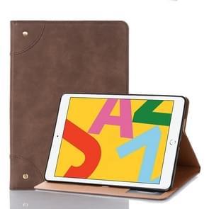 Voor iPad 10.2 / 10.5 Retro Book Style Horizontal Flip Leather Case met Holder & Card Slots & Wallet(Coffee)