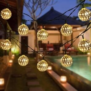 Ironwork Hollow Small Ball Outdoor LED Light String Garden Festival Decoratie Light  Specificatie:5m 20 LED's Solar (Warm White Light)