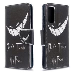 Voor Galaxy S20 gekleurd tekenpatroon horizontaal flip lederen hoes met houder & kaartsleuven & portemonnee(Grijns)