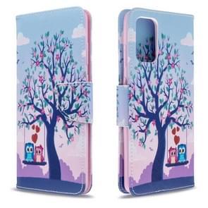 Voor Galaxy S20+ gekleurd tekenpatroon Horizontaal Flip Lederen Hoes met Houder & Kaartsleuven & Wallet(Tree)