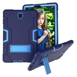 Voor Galaxy tab S4 10 5 T830 contrast kleur silicone + PC combinatie geval met houder (marineblauw + blauw)
