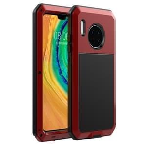 Voor Huawei Mate 30 Shockproof Waterproof Siliconen + Metalen beschermhoes (Rood)