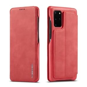 For Galaxy S20 LC.IMEEKE Hon Ancient Series Horizontal Flip Leather Case with Holder & Card Slot(Red)