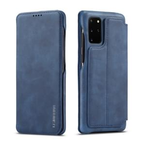 Voor galaxy s20+ LC. IMEEKE Hon Ancient Series Horizontal Flip Leather Case with Holder & Card Slot(Blue)