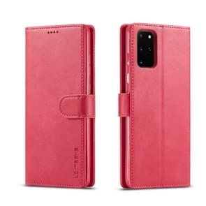 For Galaxy S20 LC.IMEEKE Calf Texture Horizontal Flip Leather Case  with Holder & Card Slots & Wallet & Photo Frame(Red)