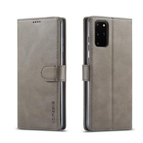 For Galaxy S20 LC.IMEEKE Calf Texture Horizontal Flip Leather Case  with Holder & Card Slots & Wallet & Photo Frame(Grey)