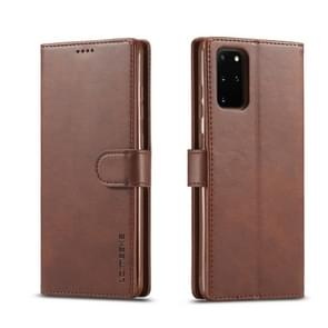 For Galaxy S20 LC.IMEEKE Calf Texture Horizontal Flip Leather Case  with Holder & Card Slots & Wallet & Photo Frame(Coffee)