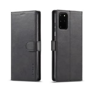 Voor galaxy s20+ LC. IMEEKE Calf Texture Horizontal Flip Leather Case  met Holder & Card Slots & Wallet & Photo Frame(Black)