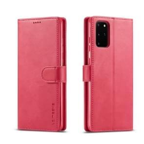 Voor galaxy s20+ LC. IMEEKE Calf Texture Horizontal Flip Leather Case  met Holder & Card Slots & Wallet & Photo Frame(Red)
