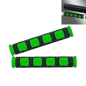 2 PCS Motorfiets Modificatie Accessoires PVC Horn ShapeHand Grip Cover Stuur Set (Groen)