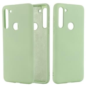 Voor Motorola Moto G8 Shockproof Solid Color Liquid Siliconen Full Coverage Protective Case (Groen)