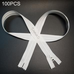 100 PCS NL-3-3LT No.3 Nylon Milieubescherming Rits voor babykleding & slaapzak  lengte: 80cm(Wit)